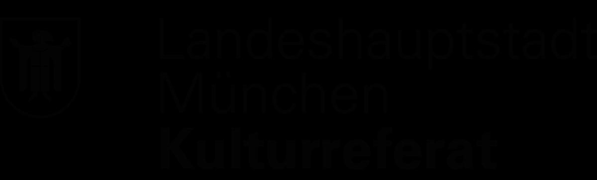 Logo der Landeshauptstadt München - Kulturreferat. Mit Wappen Münchner Kindl.